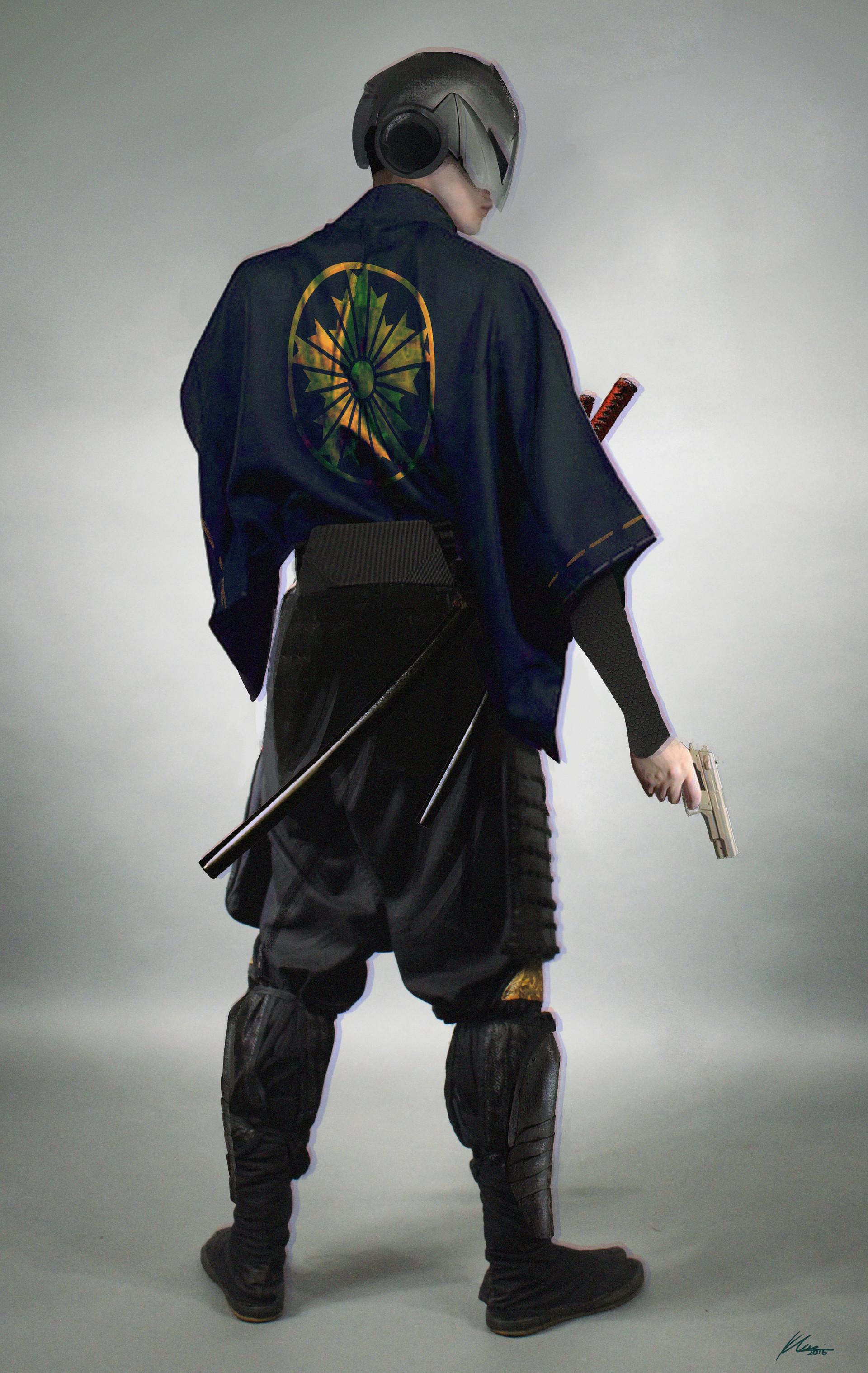 artstation cyberpunk samurai police khairizal anwar