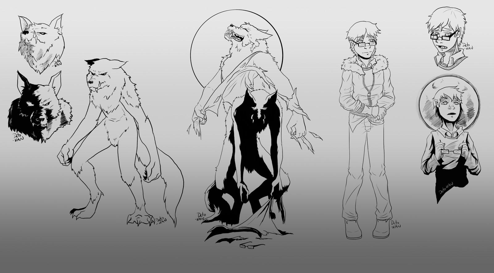 Werewolf Best Friend Challenge - Sketch