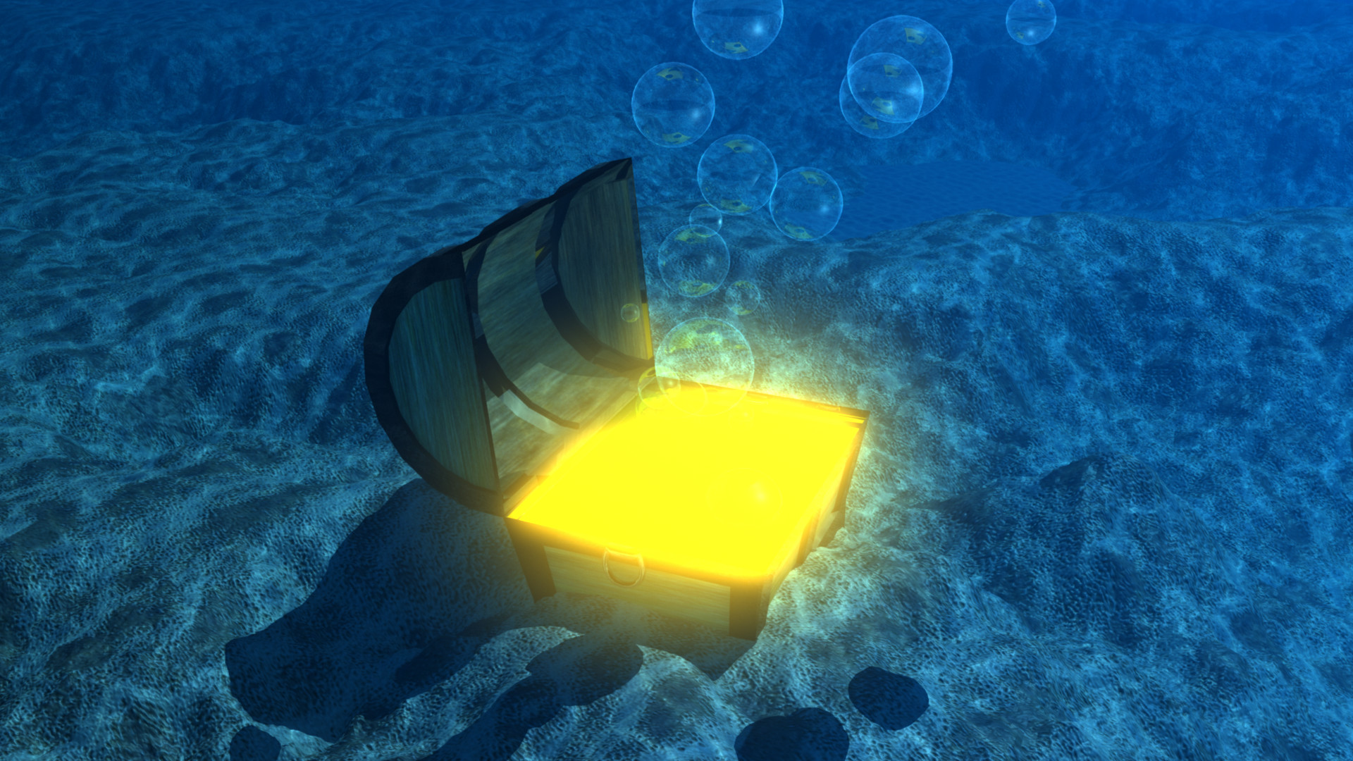 artstation underwater treasure chest robert haubrich