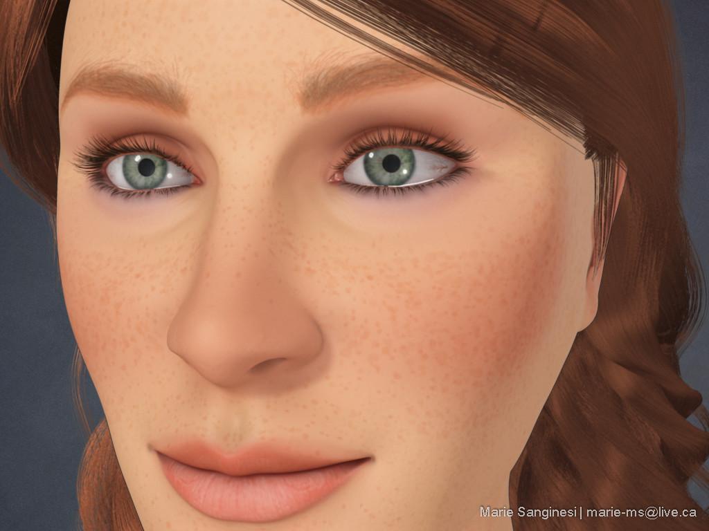 Marie sanginesi bust closeup