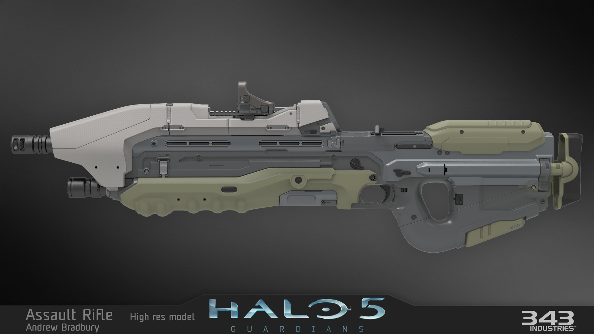 Group of Halo Assault Rifle