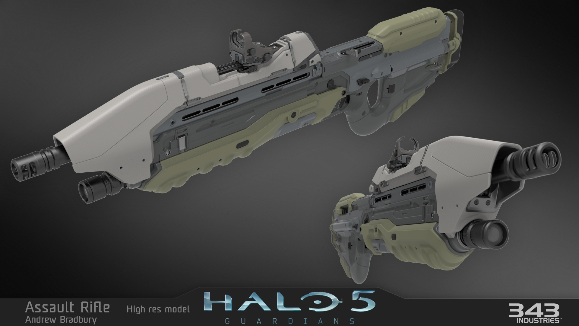 ArtStation - Halo 5 Assault Rifle, Andrew Bradbury