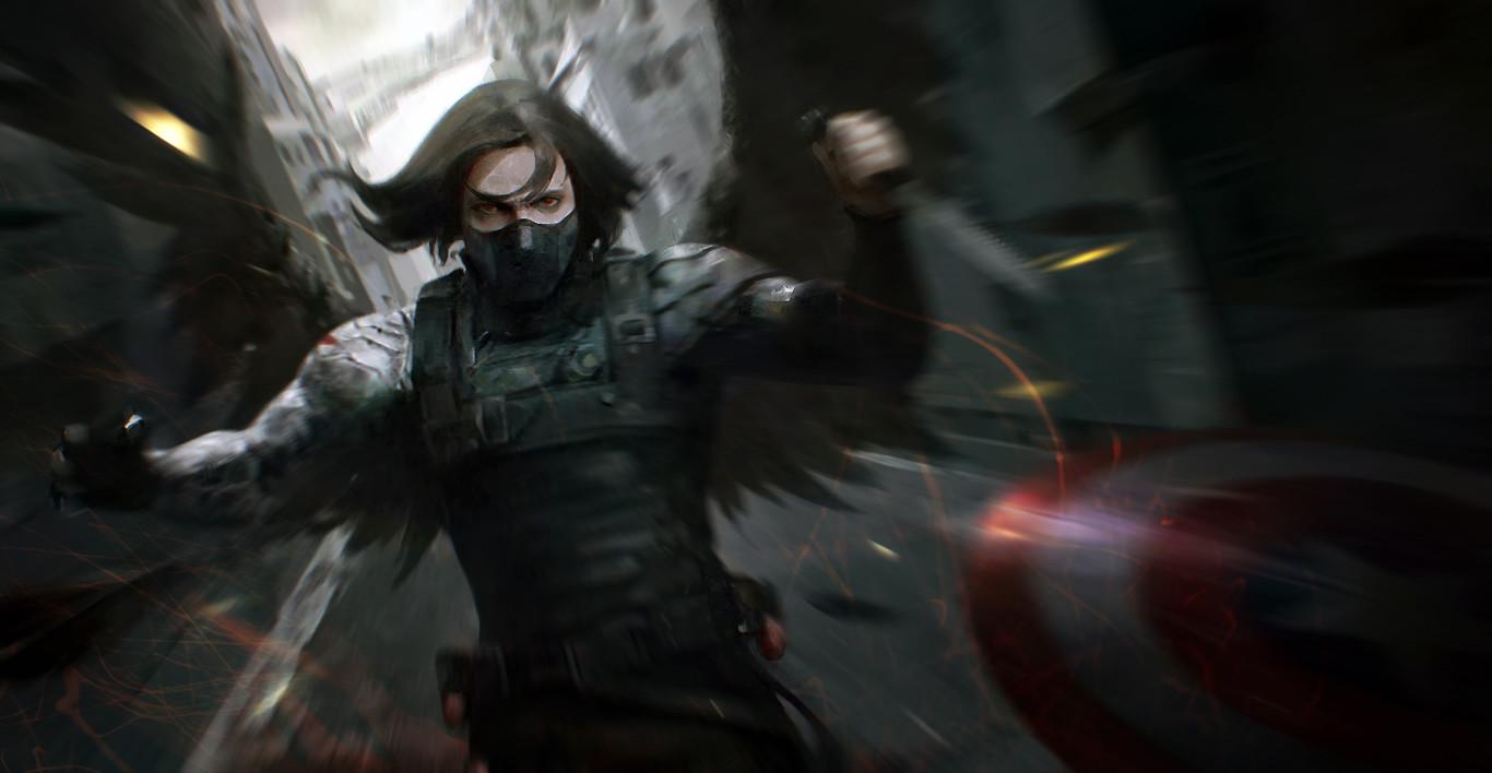 Winter Soldier Fanart . 2014. Haojie Huang 012 Fanart