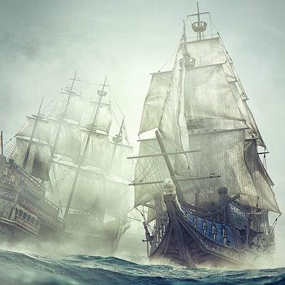 Piotr forkasiewicz illustration spanish galeon