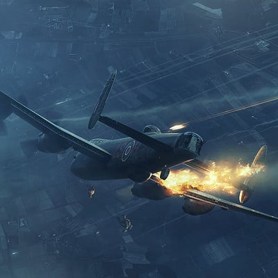 Piotr forkasiewicz aviation illustration thelastdefender