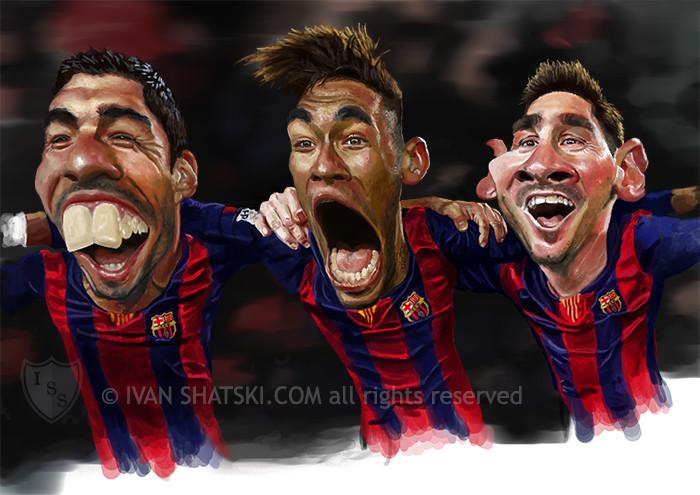 Suarez - Neymar - Messi