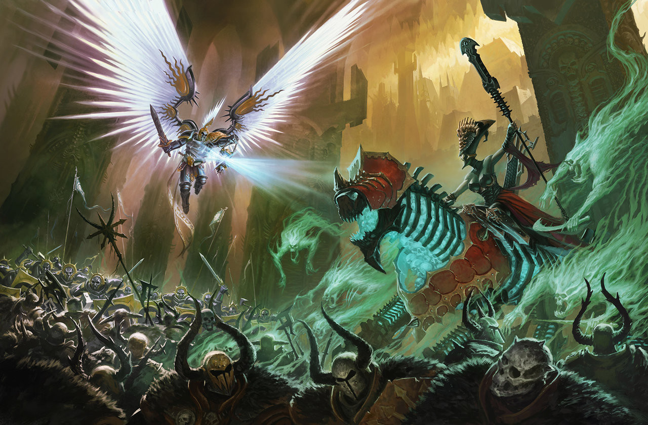 Mac smith stormcast death guys and chaos dudes in a fight by bmacsmith d9skb9j