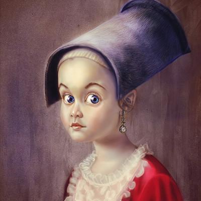 Okan bulbul girl long hat study04