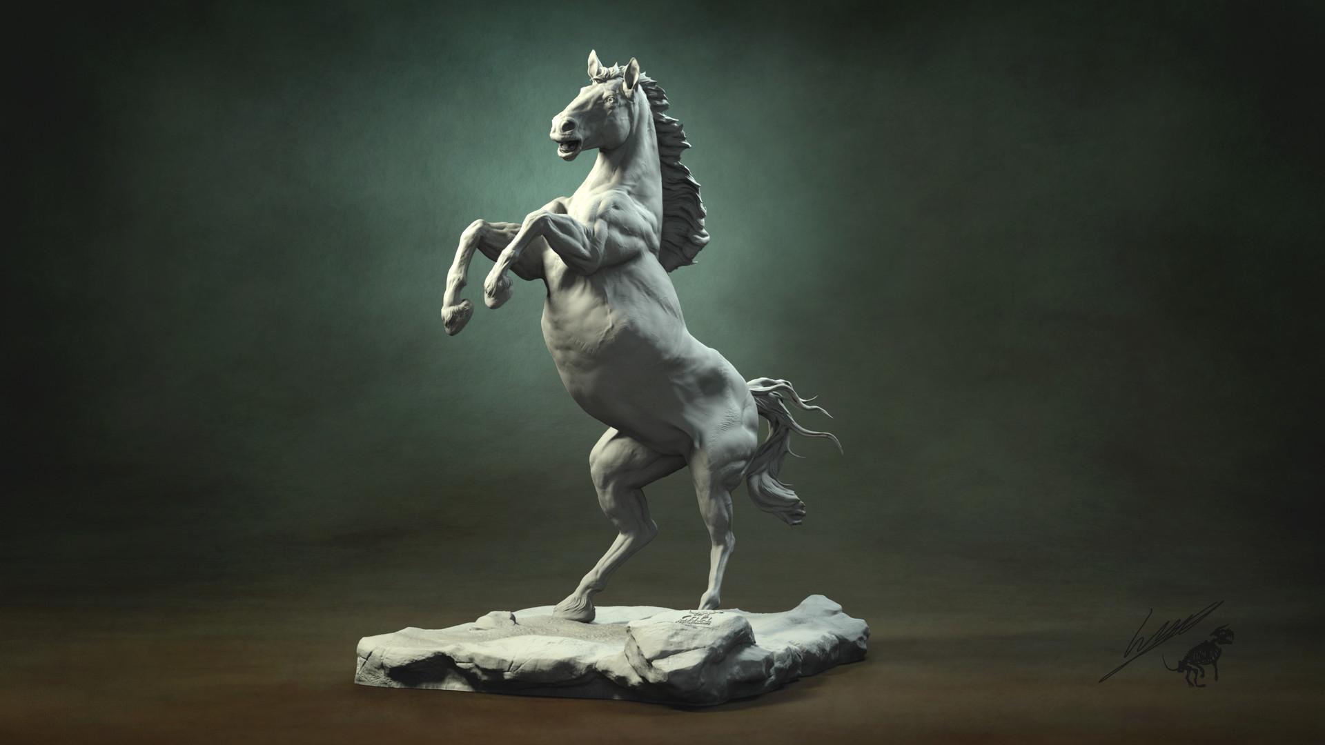 Gael kerchenbaum horse 005 clay