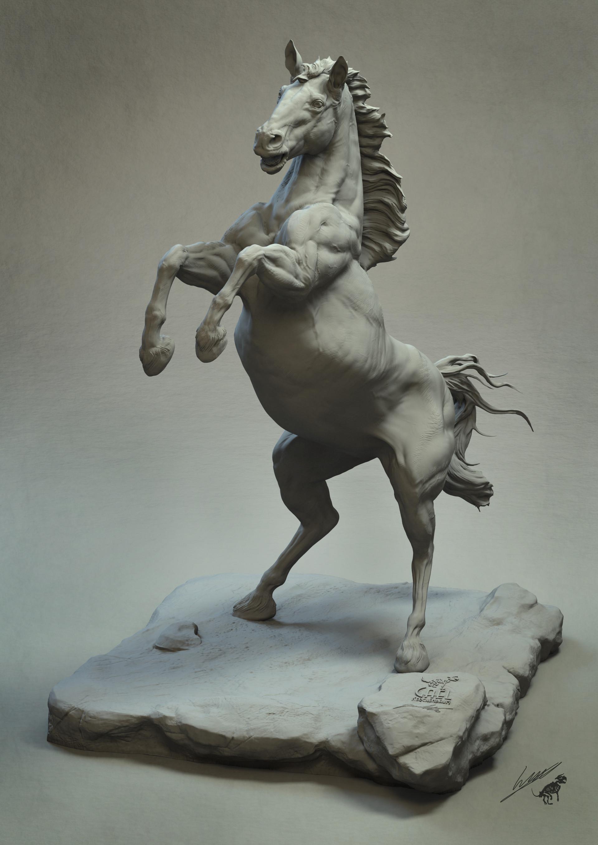Gael kerchenbaum horse 007 clay