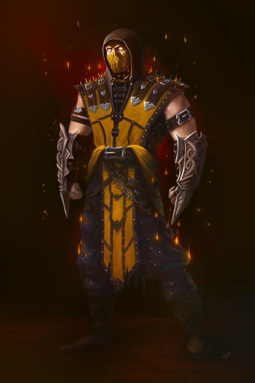 Artstation Mortal Kombat X Scorpion Concept Adam Miconi