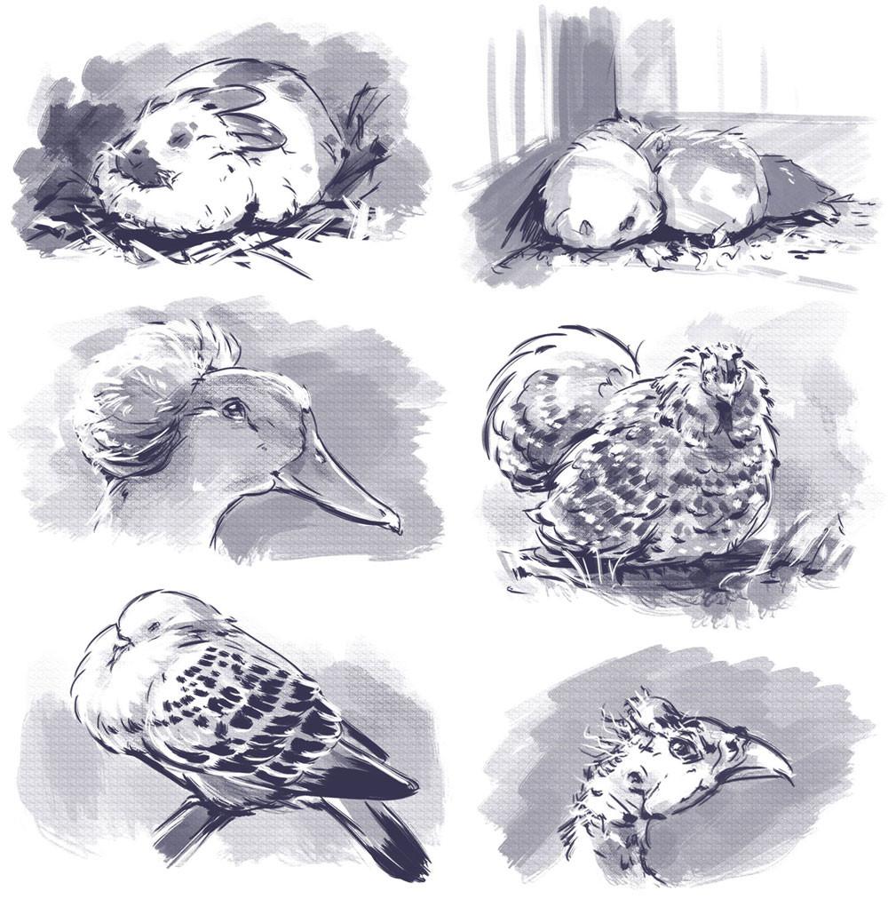 Iva vyhnankova inktober animals