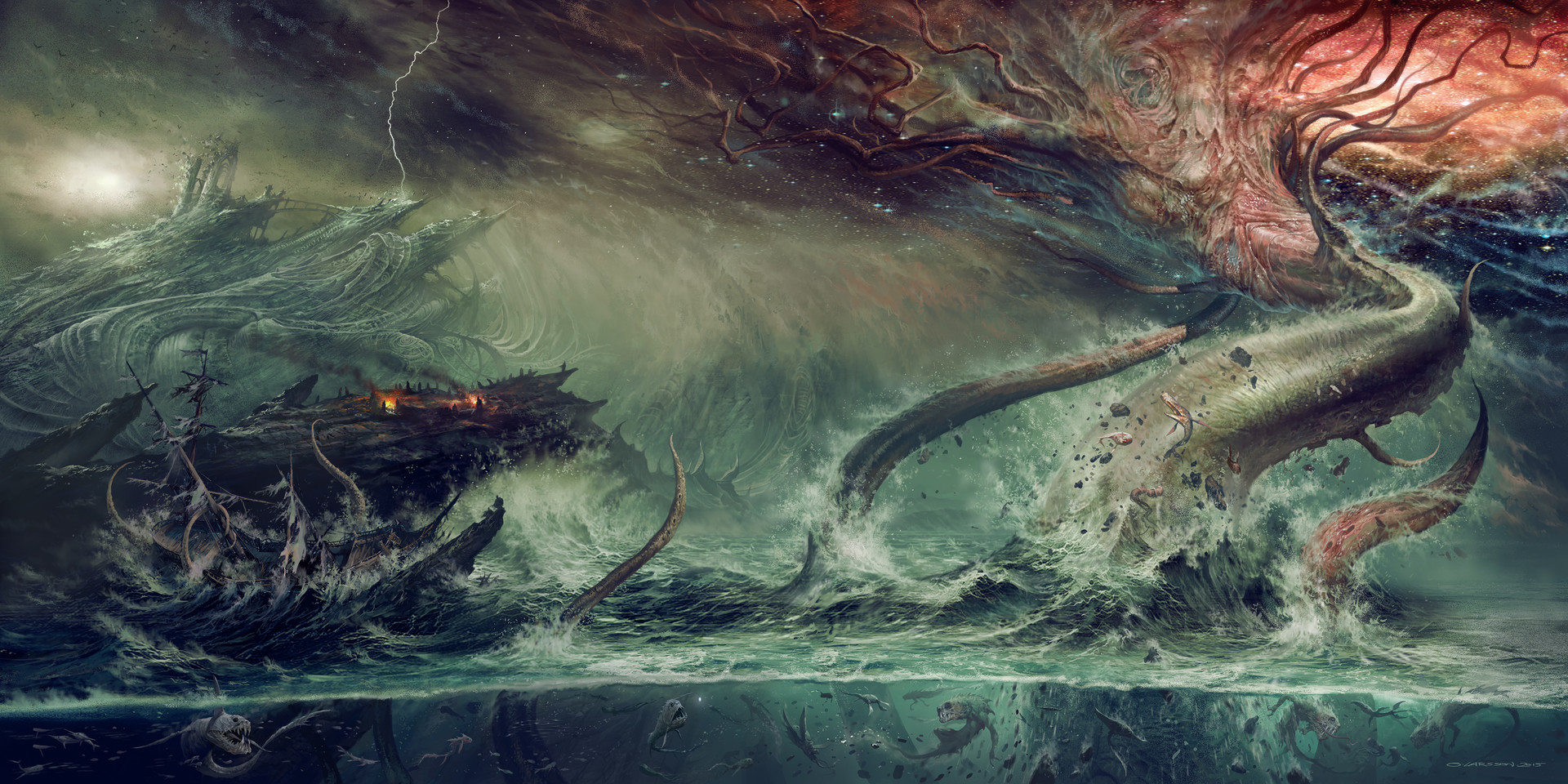 """Hp Lovecraft Art Wallpapers: """"Gateway To The Antisphere"""" Recordcover For"""