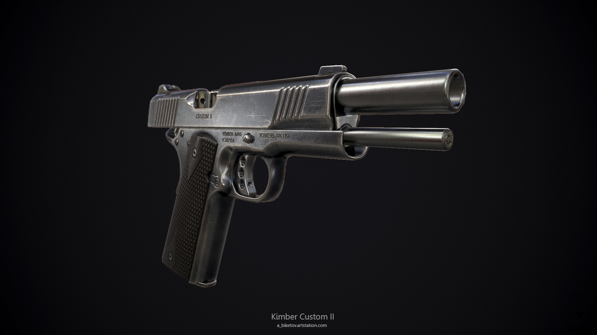 ArtStation - Kimber Custom II  45 ACP 1911, Aleksandr Biketov