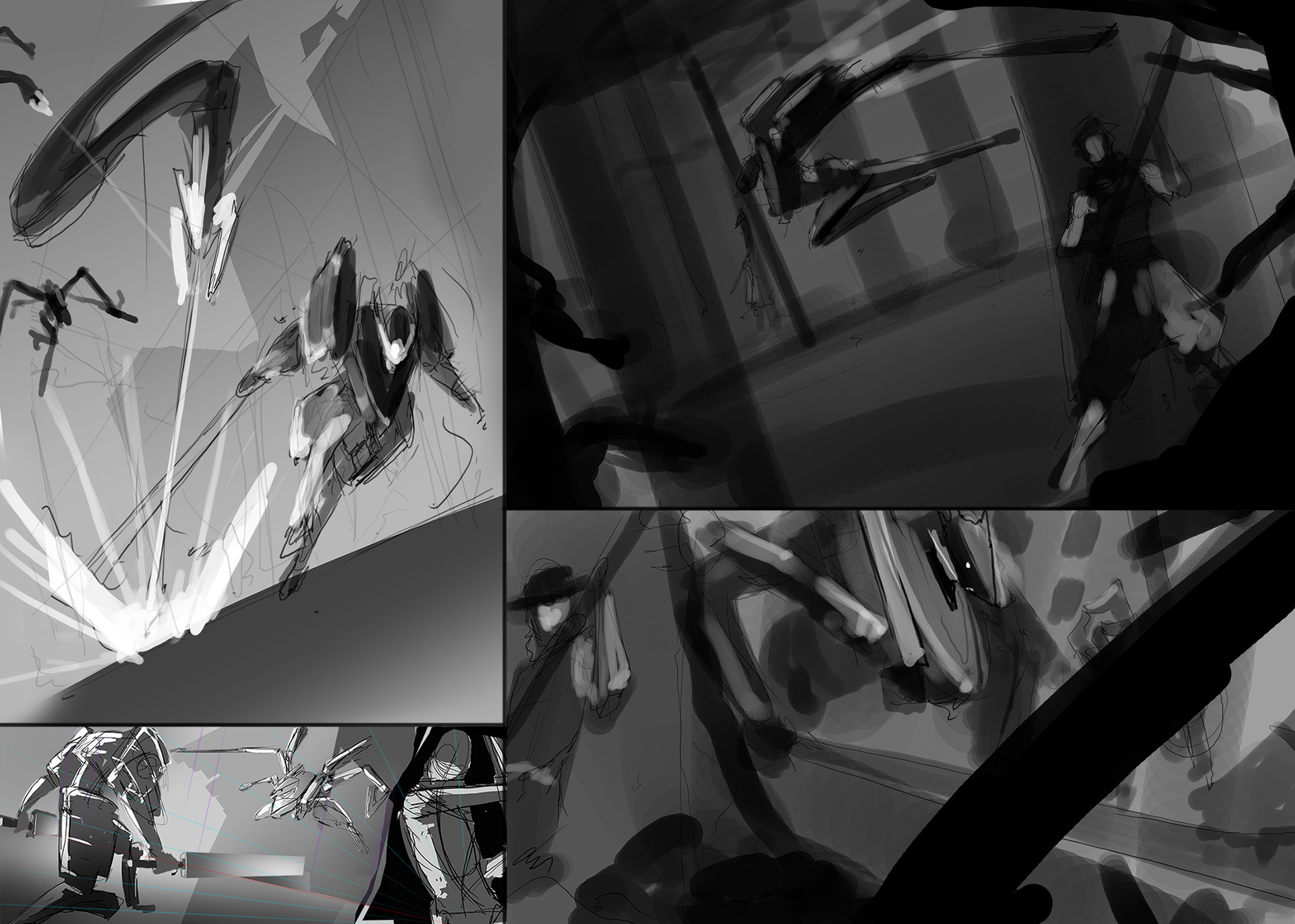 Composition Sketches for final image