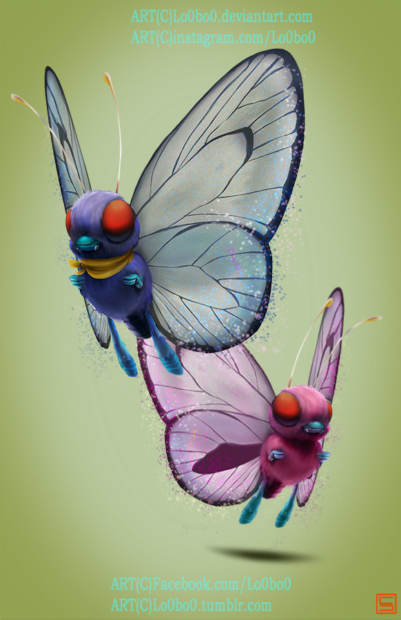 Sergio palomino pokemon project 012 butterfree ashspecial bylo0bo0