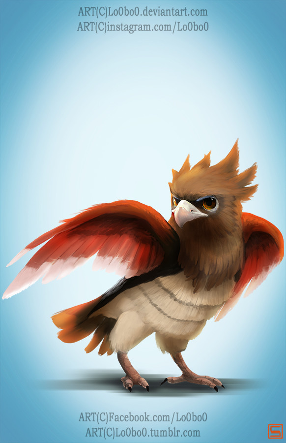 Sergio palomino pokemon project 021 spearow bylo0bo0