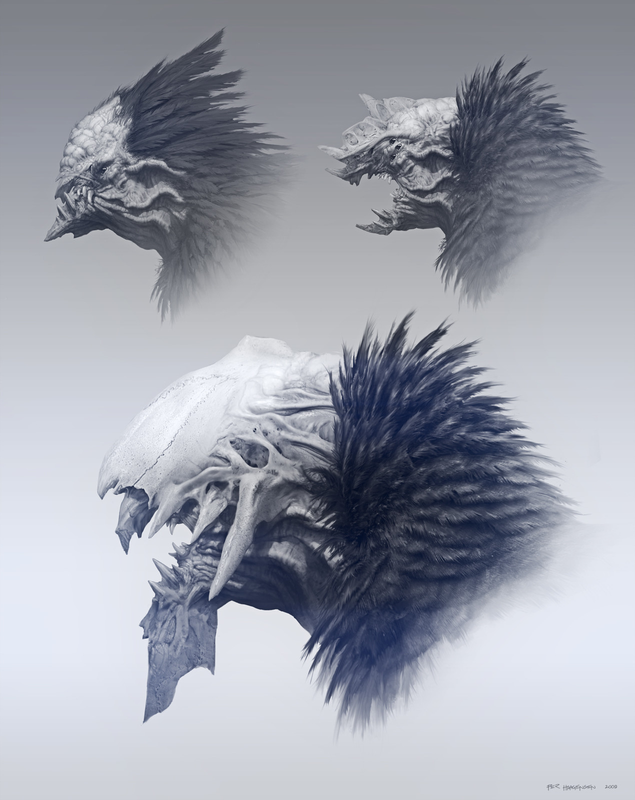 "Children of Jhil - Queen Head Concepts for ""Age of Conan: Rise of the Godslayer"""