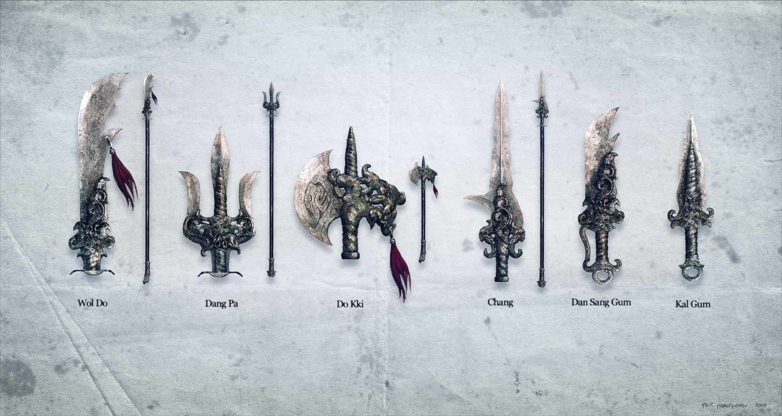 "Sacred Weapons concept art for ""Age of Conan: Rise of the Godslayer"""