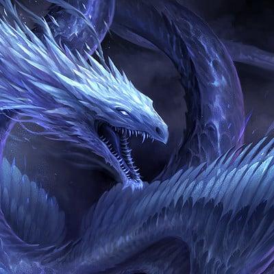 Sandara tang blue crystal dragon