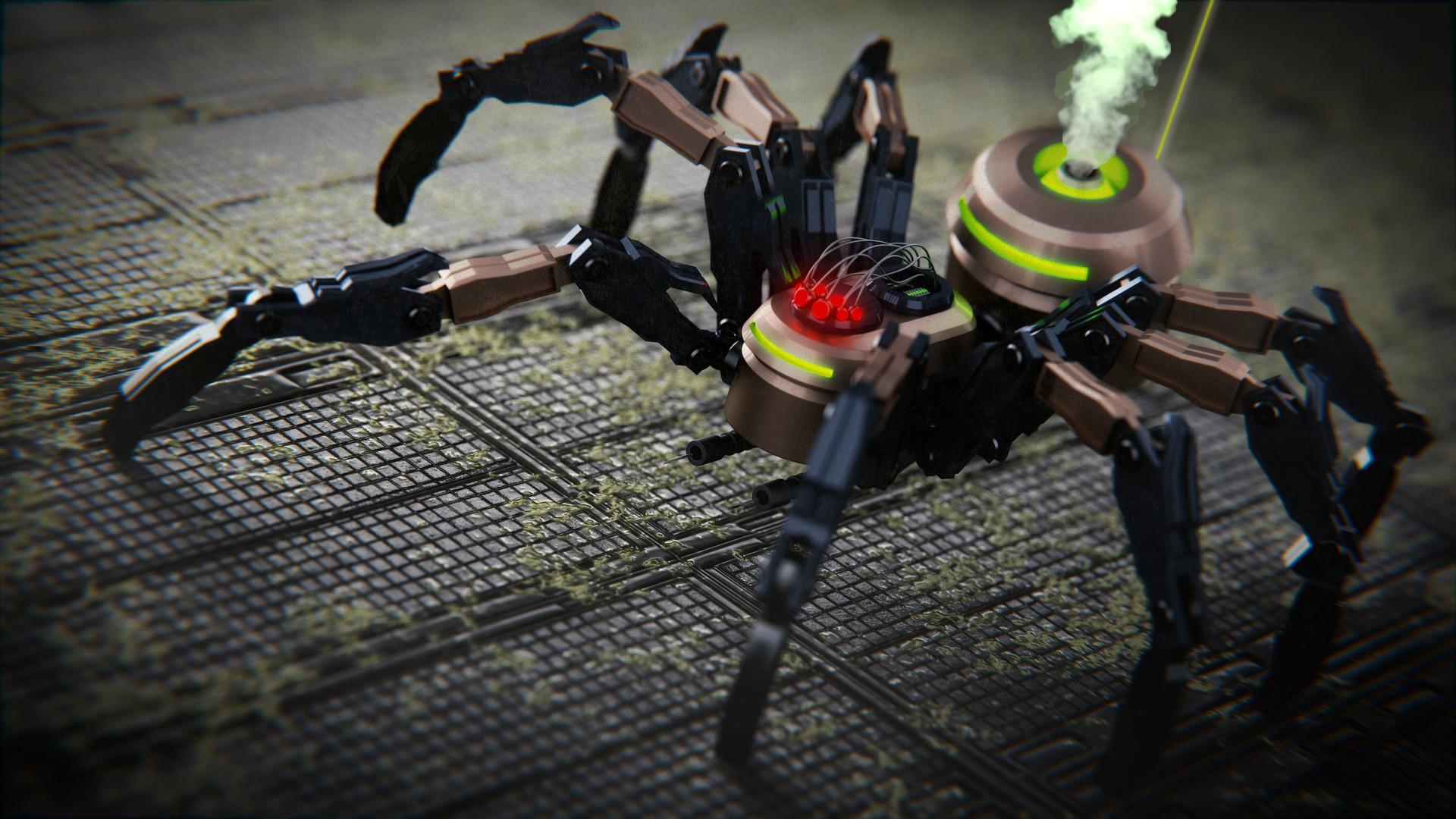 Piktron labs steam spiderbot