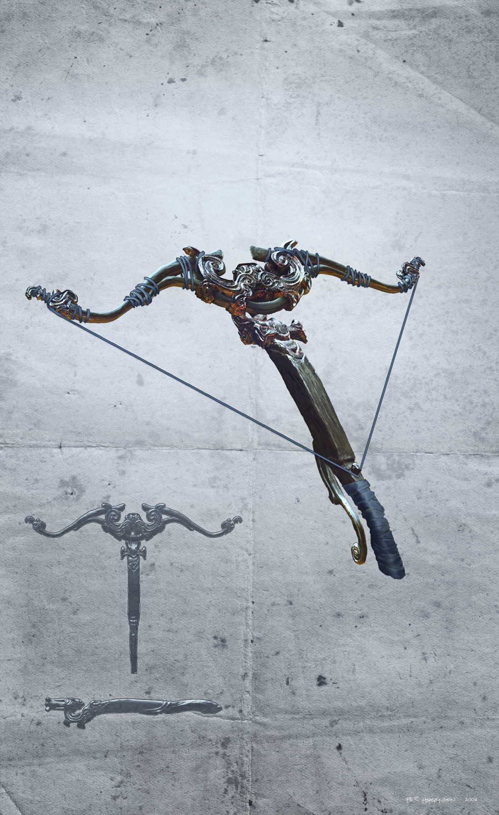"Ranger - Epic Raid crossbow concept for ""Age of Conan: Rise of the Godslayer"""