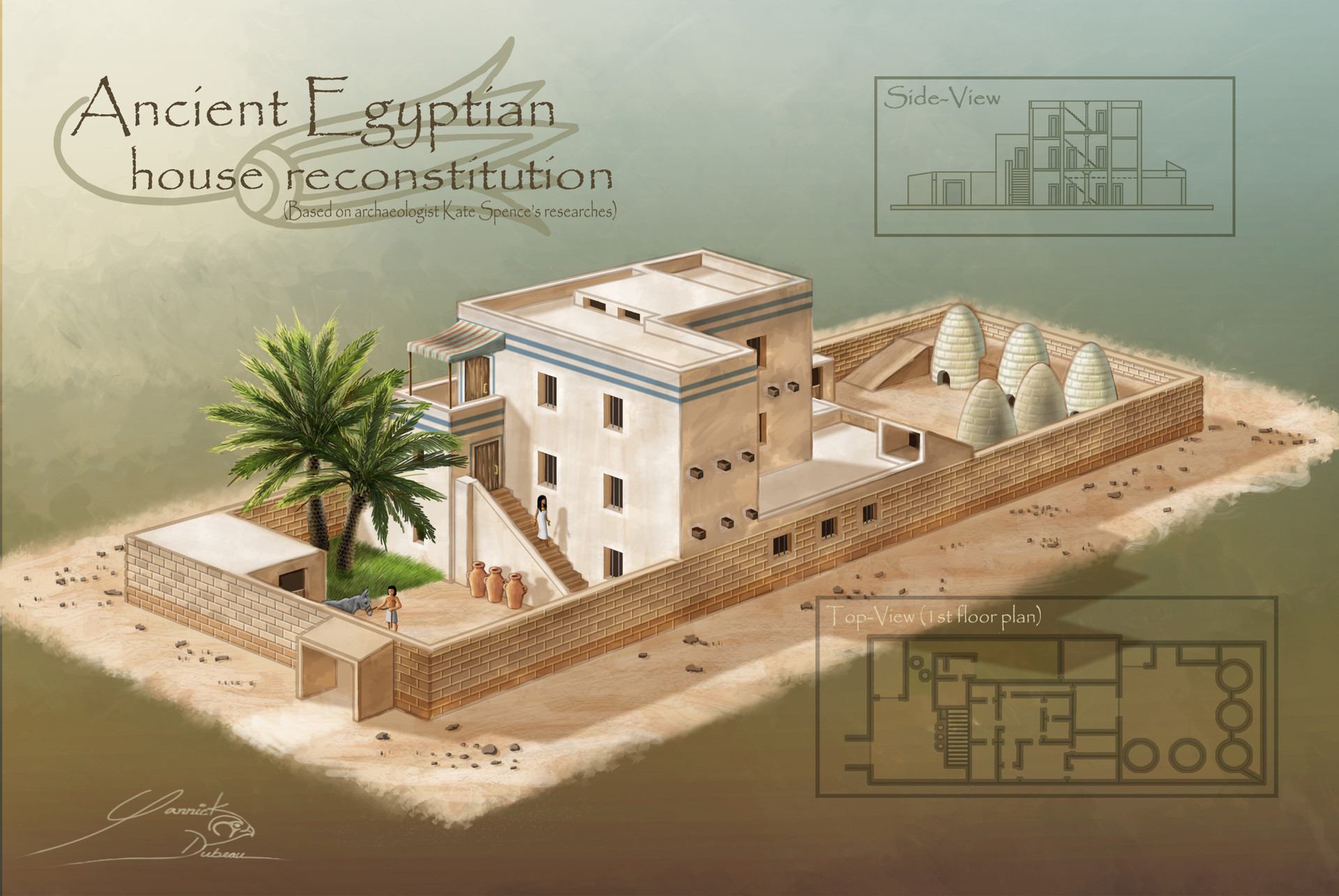 Artstation Ancient Egyptian House Reconstitution Amarna