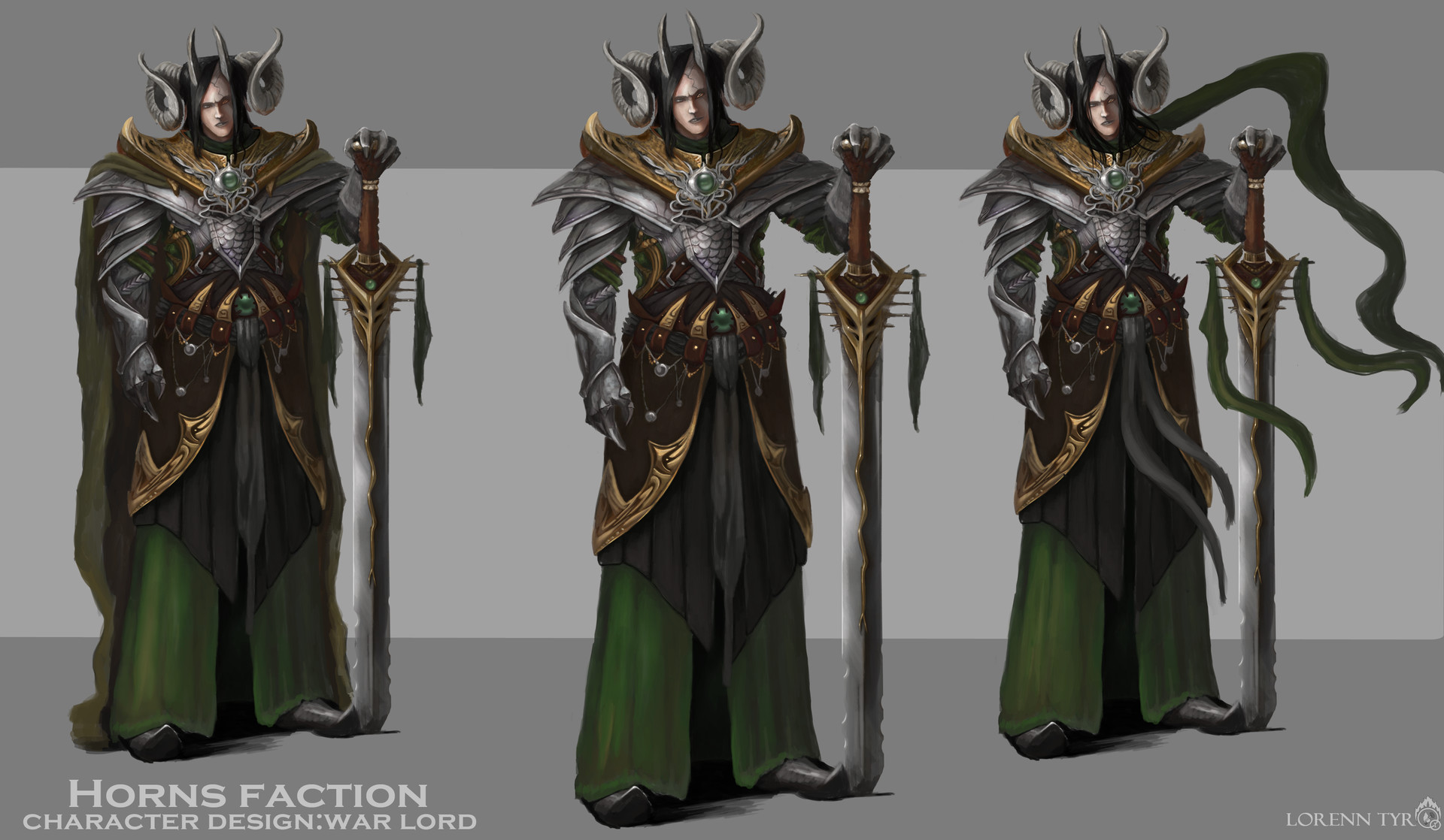 Lorenn tyr concept general color character design letras