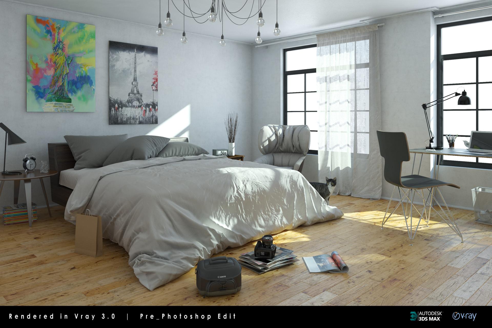 Artstation Bedroom Zhiwei Chang