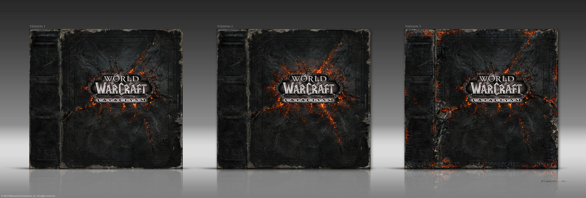 "Box Front and Spine Designs for ""World of Warcraft: Cataclysm"" CE Box Set"