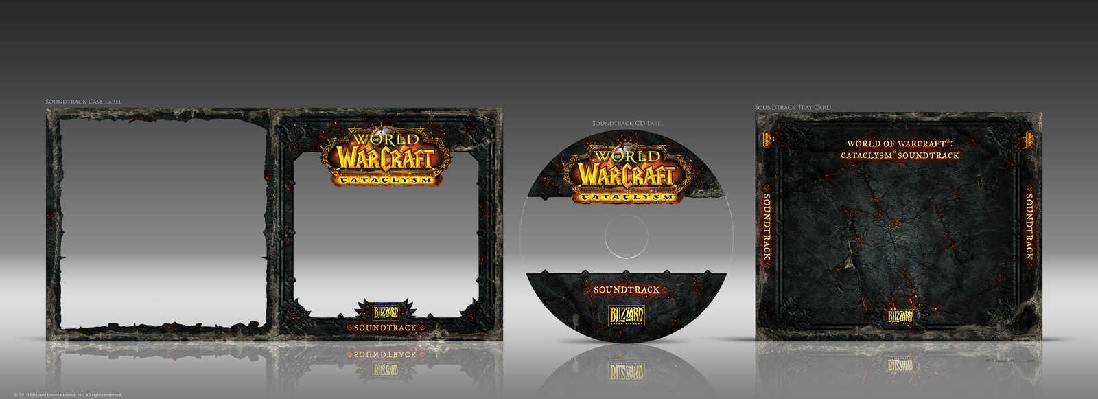 "Final Soundtrack Set Designs for ""World of Warcraft: Cataclysm"" CE Box Set"