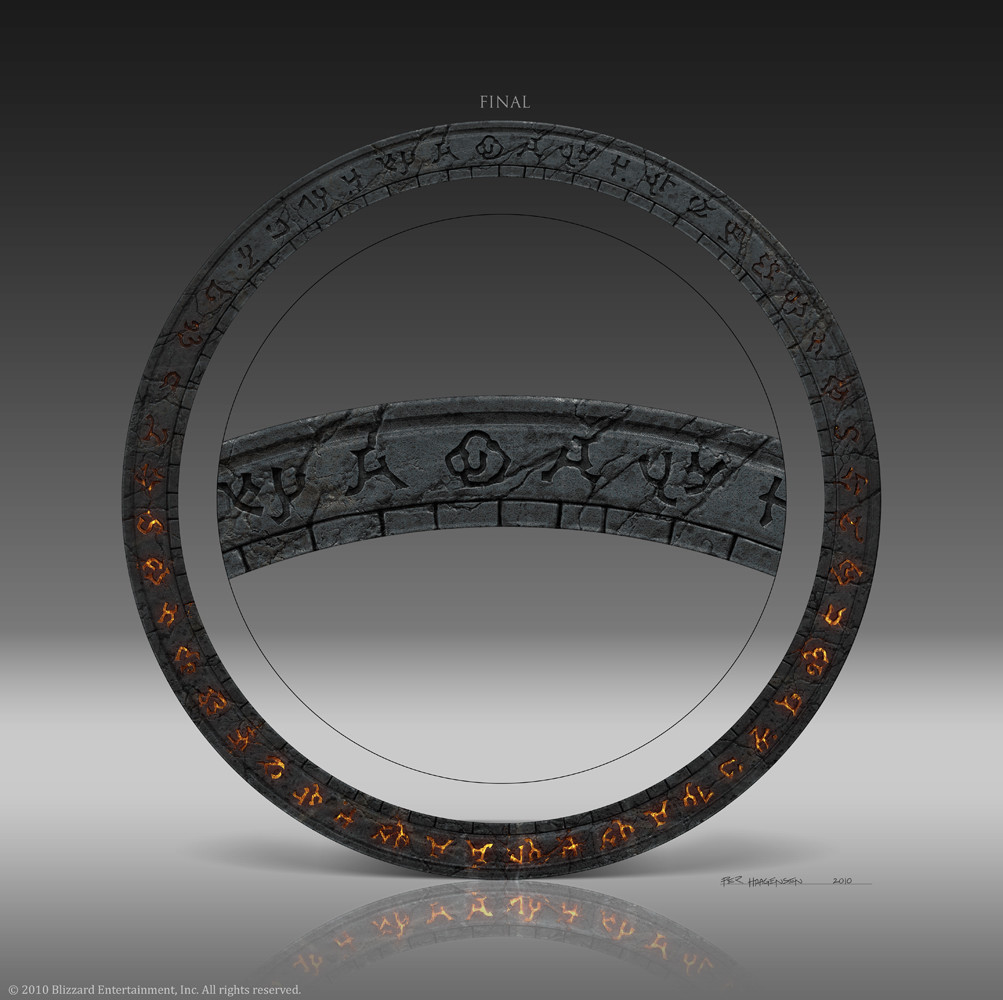 "Final Rune Ring Design for ""World of Warcraft: Cataclysm"" CE Box Set"