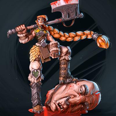 Hillevi, the half-human half-giant viking.