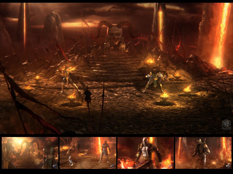 Martin Sabran - Mortal Kombat 9 Kratos Environment Concept 2010