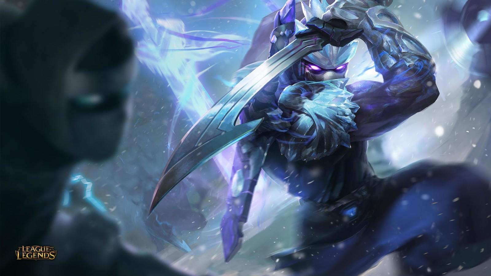 league of legends frozen shen splash art