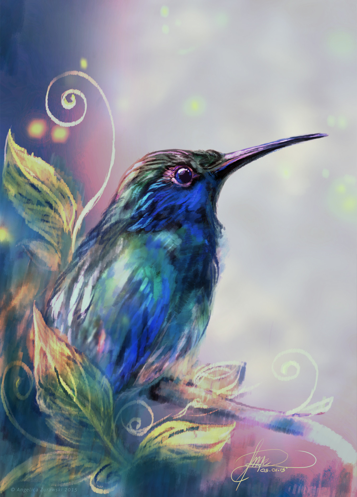 Angelica zurawski hummingbird2 by endzi z