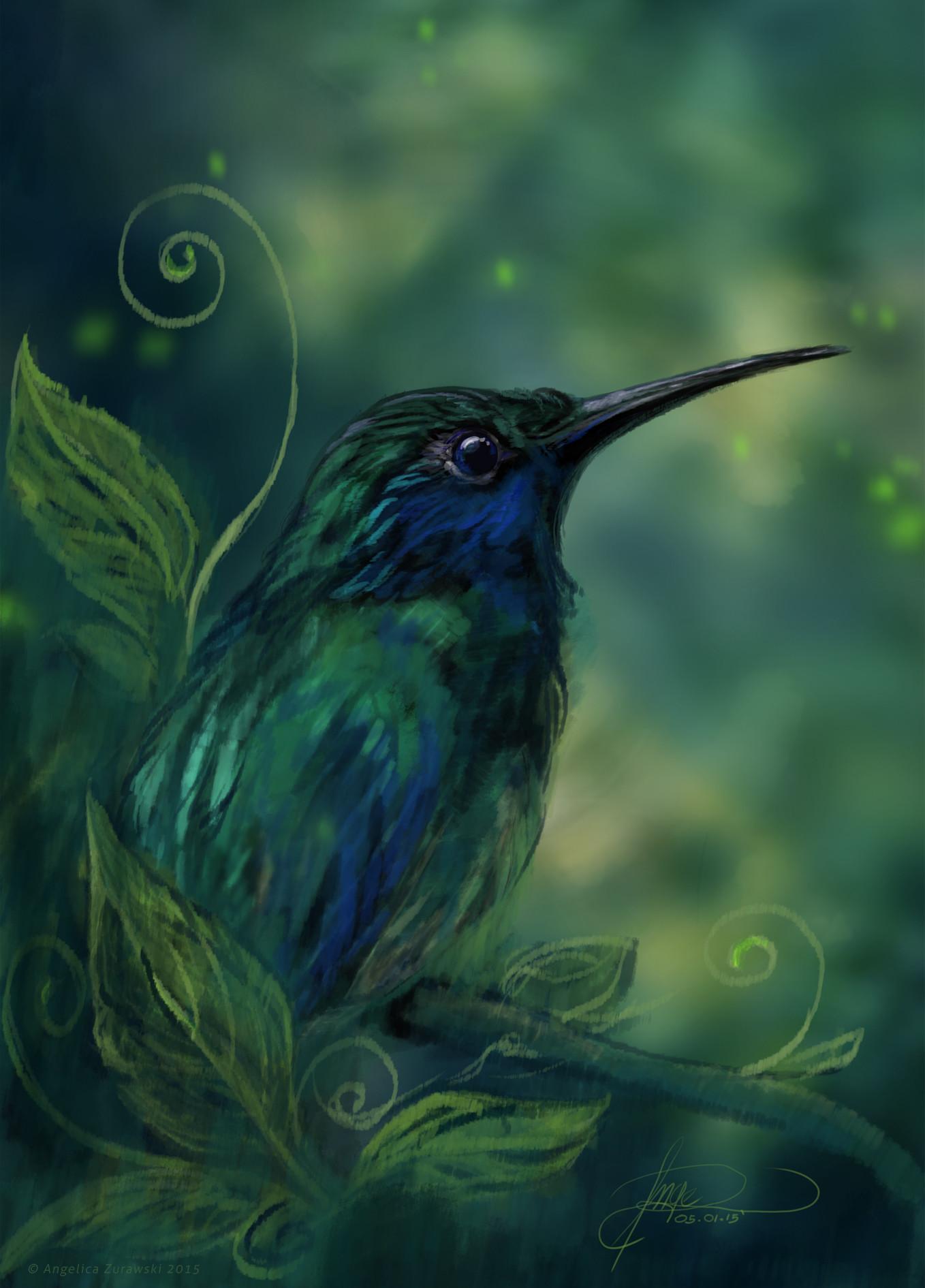Angelica zurawski hummingbird by endzi z