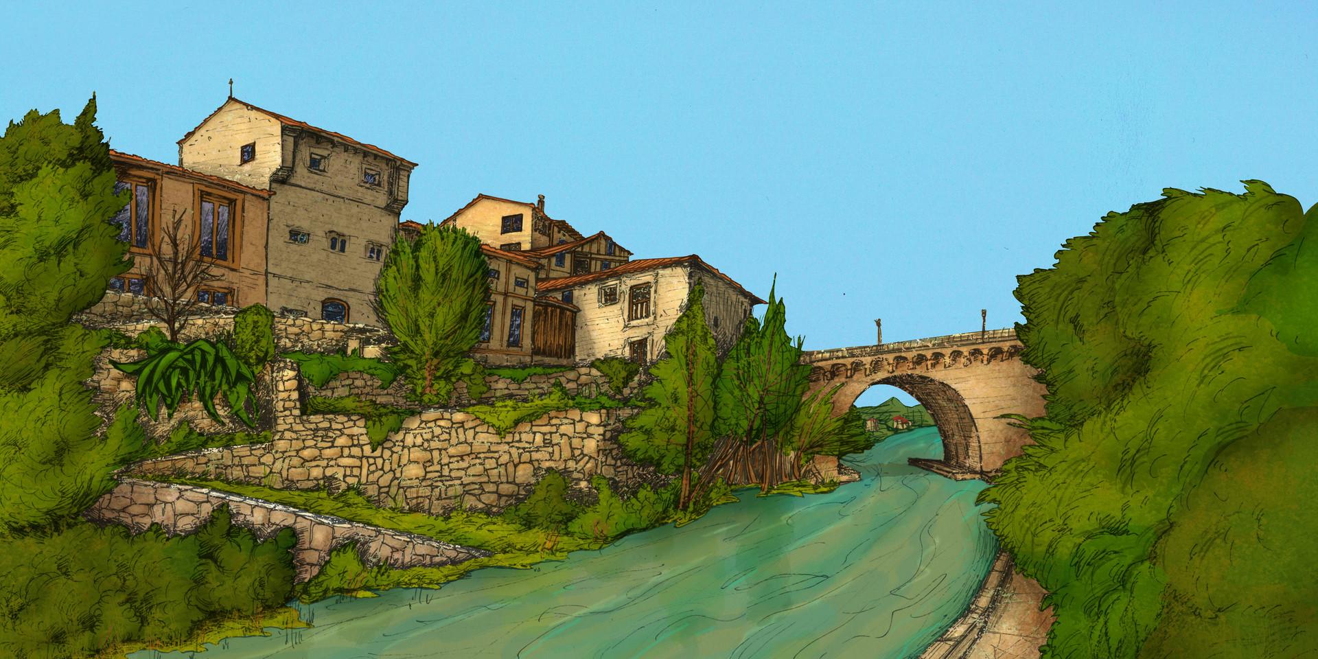 Autogiro illustration studio riverside village
