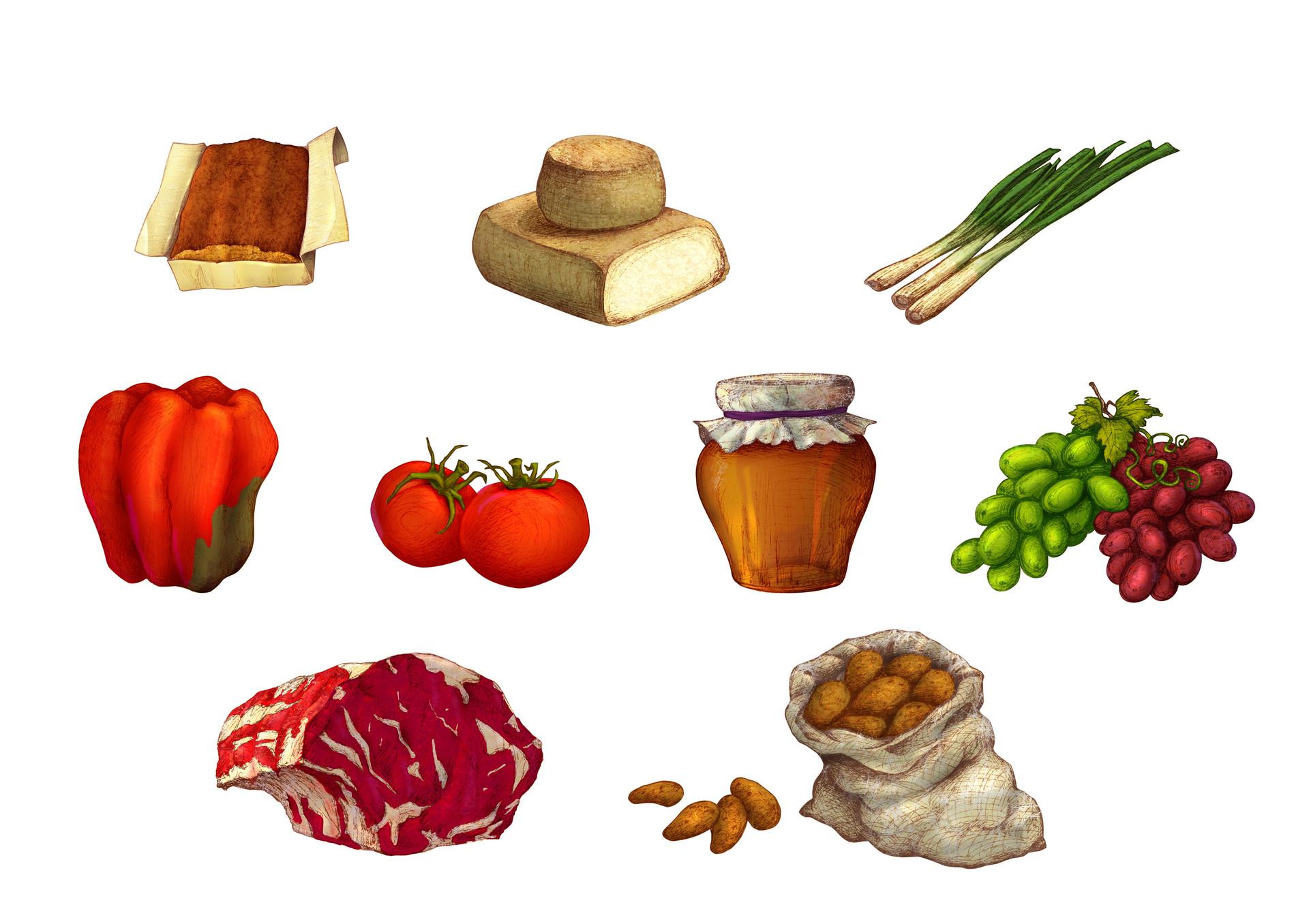 Autogiro illustration studio food
