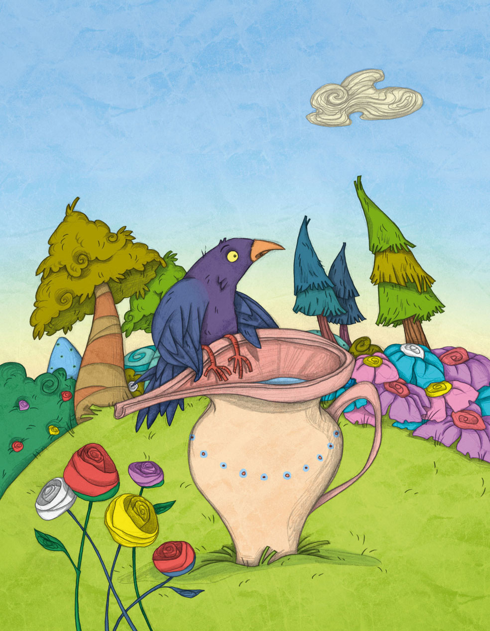 Autogiro illustration studio 8 crow text