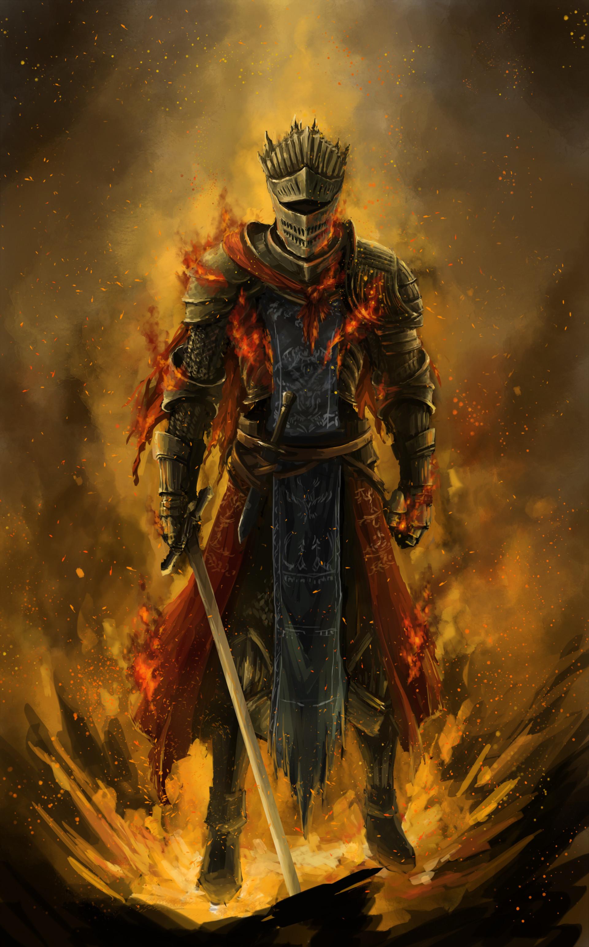 Artstation Dark Souls 3 Fanart Red Knight Brennan Liu