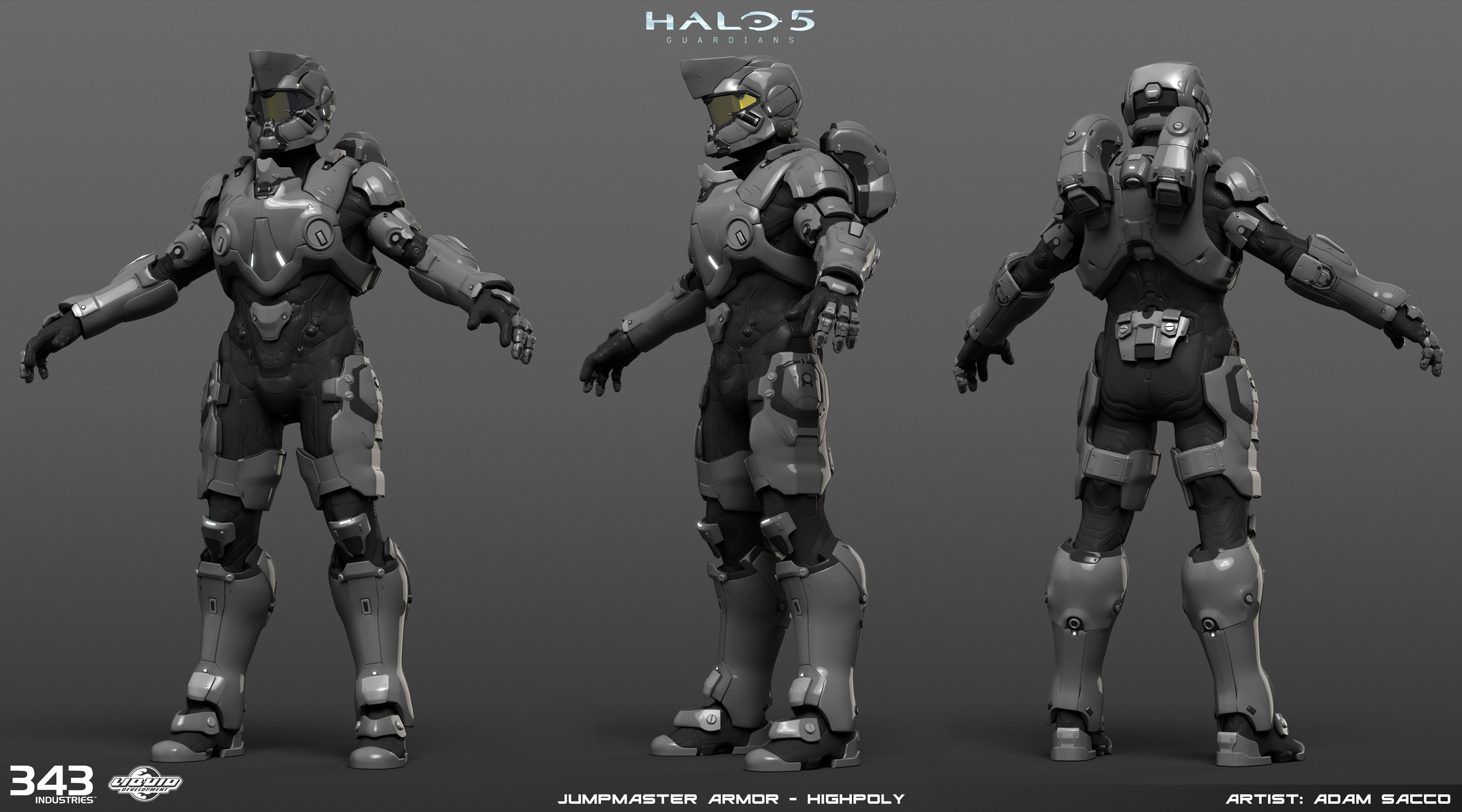 Halo 5 - Jumpmaster armor - high poly
