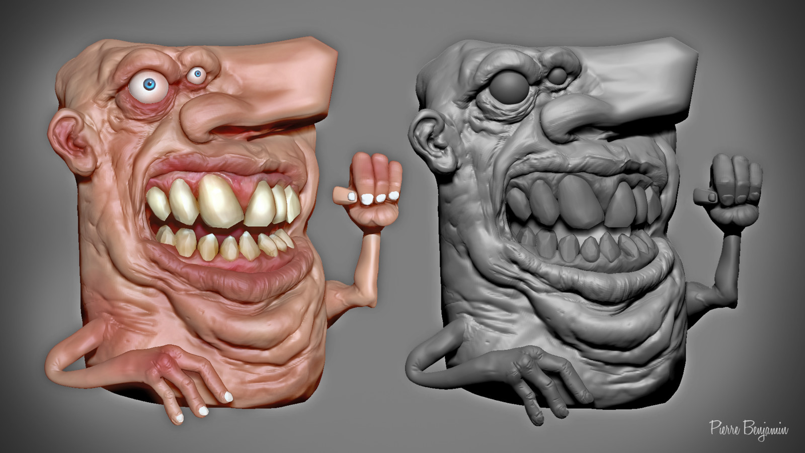 3D ZBrush sculpt based on an original concept by Numero 6 - fan Art