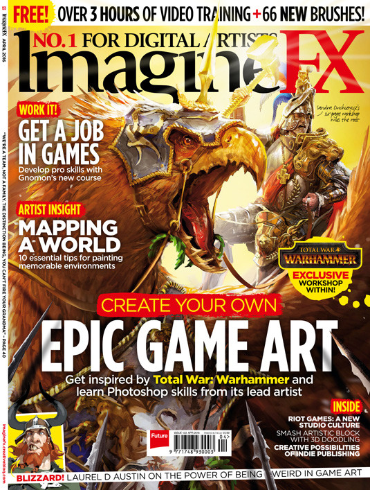 Issue of ImagineFX with the whole layout