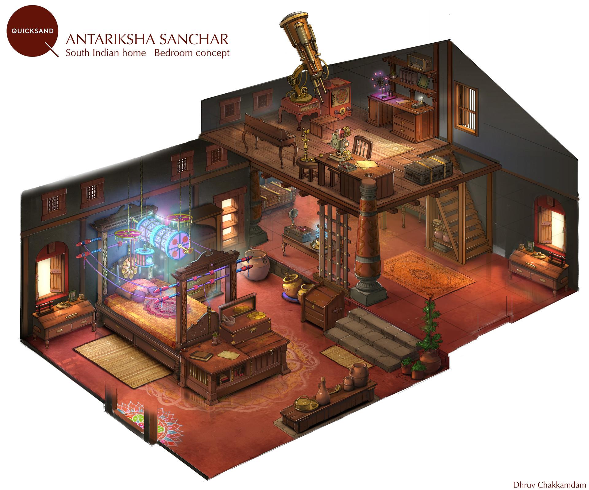 Artstation South Indian Home Concept Dhruv Chakkamadam