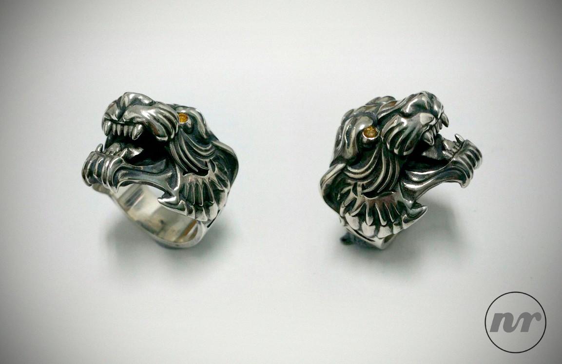 Nacho riesco gostanza silver tiger ring2