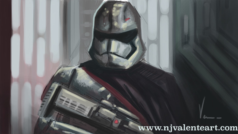 Captain Phasma Star Wars The Force Awakens speed paint