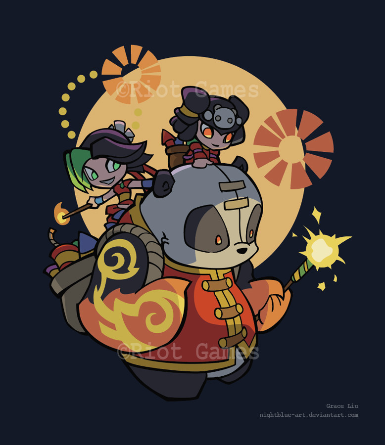 Grace liu lunar shirt lol firecracker annie jinx