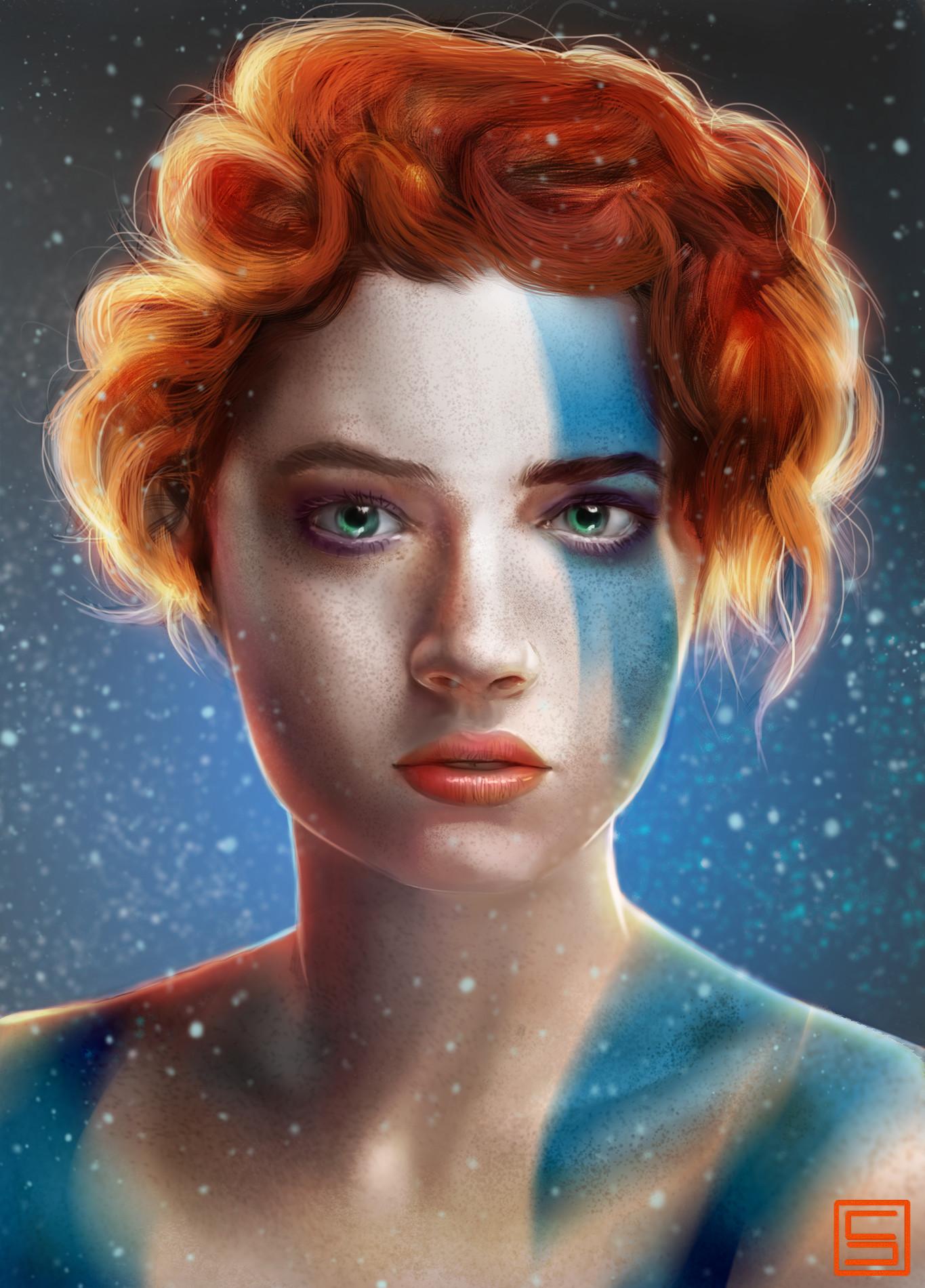 Sergio palomino portrait study vikinggirl bylo0b0o