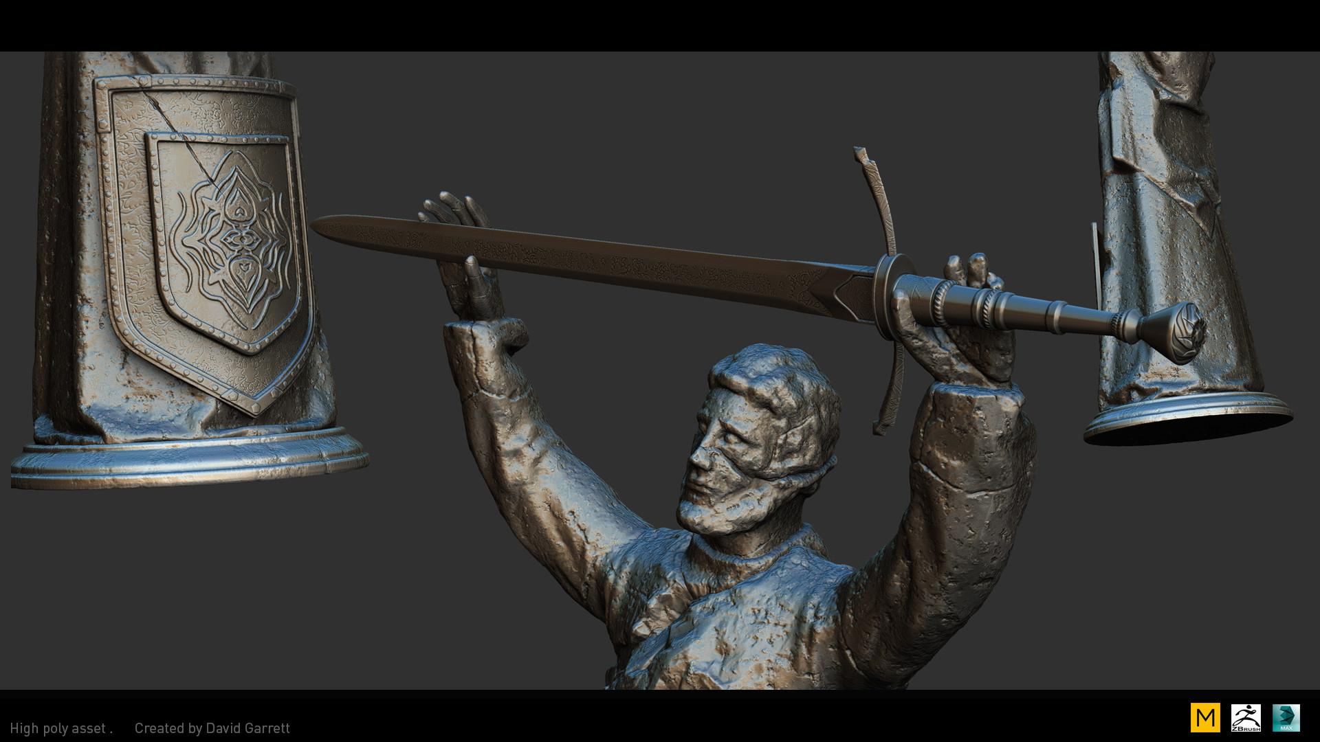 David garrett n3094311 high poly shot statue close